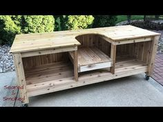 Learn how to build your very own Big Green Egg Table to make using your Big Green Egg a lot more fun, with tons of storage and countertop space.