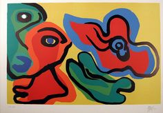 "Karel Appel (Dutch, 1921-2006), ""Sun Flower Girls,"" 1974; Indianapolis Museum of Art, Gift of Dr. Owen Berger, 77.417"