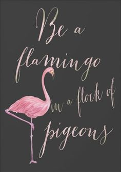 Lee Renee Jewellery* Be a flamingo in a flock of pigeons.