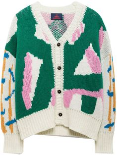 THE ANIMALS OBSERVATORY Peasant Cashmere and Wool Cardigan