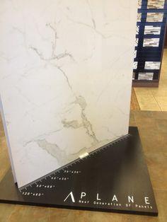 Plane Porcelain - Carrara-alternate for larger slab pieces, like a shower wall Shower Niche, Shower Rooms, Bathroom Showers, Bath Shower, Shower Accent Tile, Marble Floor Kitchen, Upstairs Bathrooms, Master Bathrooms, Master Bedroom