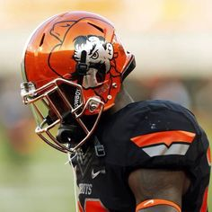 Love these Oklahoma State helmets!