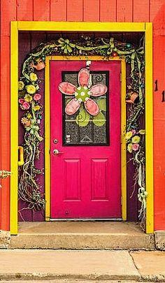 Firefly Floral Shop in Waupaca, Wisconsin - photo by Trey Foerster Cool Doors, Unique Doors, Knobs And Knockers, Door Knobs, Entrance Doors, Doorway, Front Doors, When One Door Closes, Door Gate