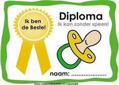 Diploma stoppen met fopspeen