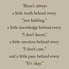 always a little truth ....