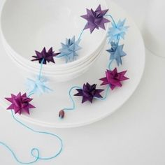 A garland of folded paper stars.