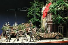 Diorama Defending Swords - Arnheim, September 1944 - built by Dietrich Wolf…