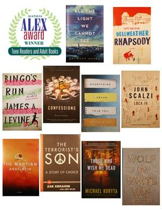 2015 Youth Media Awards: The Alex Awards for books written for adults with special appeal for teens.