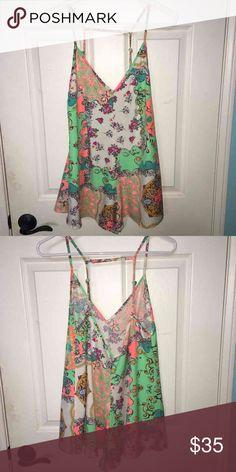 LF bright paisley romper only worn a few times!! LF Dresses Mini