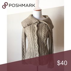 """Anthropologie Sleeping on Snow Button Down Sweater Overall excellent condition besides some fuzzing along the arms, to be expected from this material. Reasonable offers welcome, bundle offers encouraged📬📦 Due to the price of shipping I highly encourage bundling - you can custom create bundles by selecting """"add to bundle"""" under each item! Anthropologie Sweaters"""