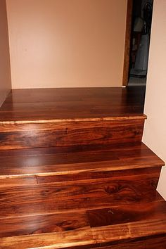 Beautiful Acacia Hardwood Flooring Stairs By SimpleFLOORS Available In Multiple Stains
