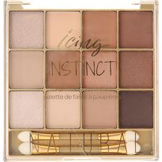 Instinct Brown Eyeshadow Palette ($5.64) ❤ liked on Polyvore featuring beauty products, makeup, eye makeup, eyeshadow, beauty, cosmetics, filler and palette eyeshadow