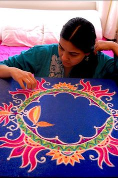 Diwali Rangoli for O2 by Humna Mustafa (formerly of Adelaide, South Australia via Pakistan), via Behance