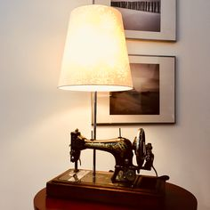 A bit weird table lamp project. Antique (built in 1904) Singer sewing machine reuseing by Yano.