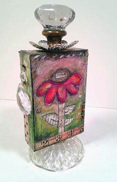 Mixed Media floral OOAK Original Dream by LisaKausArtStudios, $115.00