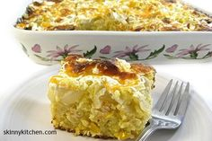 I've tasted many cornbread casseroles in my day and this one wins hands down…Super rich and loaded with flavor. A wonderful side for Thanksgiving! But delicious with chicken, beef or ham. Ter…