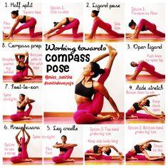 Yoga tutorial for compass pose - hip openers. miss sunitha Yoga tutorial for compass pose - hip openers. miss sunitha Ashtanga Yoga, Vinyasa Yoga, Yoga Inversions, Bikram Yoga, Yoga Beginners, Beginner Yoga, Yoga Fitness, Sport Fitness, Pilates