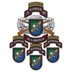 Military Insignia : Ranger Regiment by Serge Averbukh. Military Ranks, Military Insignia, Military Art, Navy Special Forces, Special Ops, Ranger School, Military Shadow Box, Airborne Ranger, Military Motivation