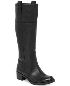 Lucky Brand Hibiscus Wide Calf Boots BLACK