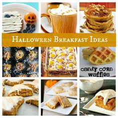 Halloween breakfast ideas~ Lots of great ideas for the whole month of OCTOBER!