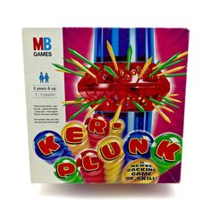 Mb Games Ker Plunk Vintage 1996 skill board game fun sticks marbles complete Baby Toys, Kids Toys, Game Sales, Family Games, Toy Sale, Marbles, 1990s, Board Games, Sticks