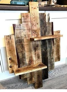 A beautiful handmade selection of SELECT Pallets. Our boards are HAND picked and placed. Our standard sizes vary depending on what size you want. This shelf is roughly 25 Wooden Pallet Projects, Pallet Crafts, Diy Pallet Furniture, Wood Furniture, Furniture Ideas, Repurposed Wood Projects, Etsy Furniture, Pallet Home Decor, Furniture Market