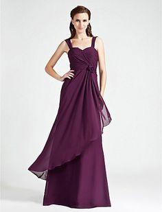 A-line Sweetheart Floor-length Chiffon Bridesmaid Dress - USD $ 119.99