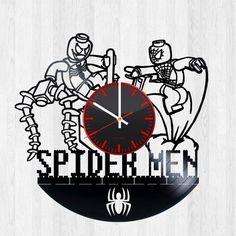 Lego Spiderman Handmade Vinyl Record Wall Clock Fan Gift - VINYL CLOCKS