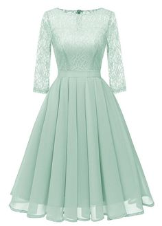online shopping for SUJAN Women's Lace Midi Dress Sheer Long Sleeves Skirt A Line Chiffon Homecoming Dresses from top store. See new offer for SUJAN Women's Lace Midi Dress Sheer Long Sleeves Skirt A Line Chiffon Homecoming Dresses Lace Midi Dress, Sheer Dress, Lace Chiffon, Chiffon Dress, Chiffon Rock, Flare Dress, Midi Skirt, Lace Sleeves, Dresses With Sleeves