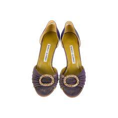 Manolo Blahnik Gradient Sandals (8.890 RUB) ❤ liked on Polyvore featuring shoes, sandals, buckle shoes, purple sandals, purple rhinestone shoes, yellow shoes and manolo blahnik sandals