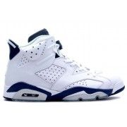 Air Jordan 6 (VI) Retro White Midnight Navy $104.99 http://www.theredkicks.com/