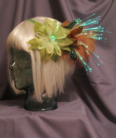 Glowing feather headband