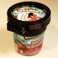 Ben & Jerry's Euphori-Lock Ice Cream Pint Combination Lock Protector