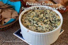 Spinach Artichoke Dip in the Pressure Cooker | Pressure Cooking Today