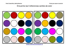 Encuentra las 5 diferencias colores nivel medio imagenes_01 Dots And Boxes, Word Ladders, Magic Squares, School Hacks, School Tips, Number Puzzles, Learn French, Lettering, Psychology