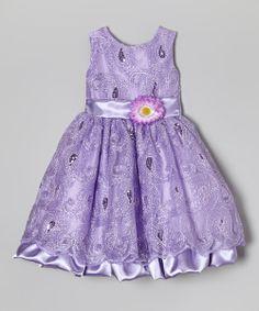 Lavender Swirl Sequin Dress - Infant, Toddler & Girls | zulily