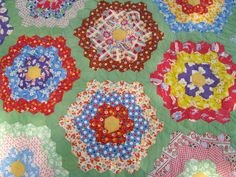 Vintage Quilt ~ Flower Garden
