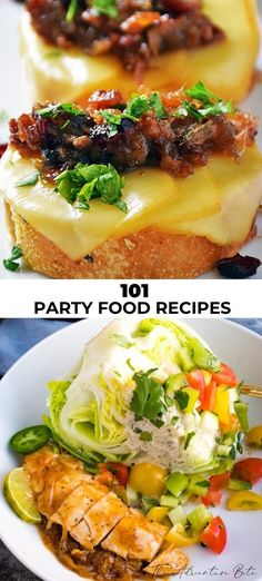 These 101 easy to put together party food ideas are the perfect thing to pass around at your next party! Easy Asian Recipes, Fun Easy Recipes, Best Chicken Recipes, Good Healthy Recipes, Popular Recipes, Gourmet Recipes, Mexican Food Recipes, Easy Meals, Fall Recipes