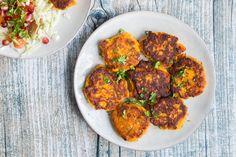 Vegetariske frikadeller med sød kartoffel - Life By Nan