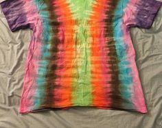 Large vertical tie dye tee shirt
