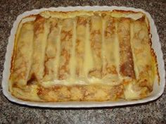 Recipe: Crepes with cheese in the oven Romanian Desserts, Romanian Food, Fruit Pancakes, Ukrainian Recipes, Torte Cake, No Cook Desserts, Sweet And Salty, I Foods, Low Carb Recipes