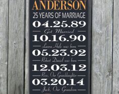 Personalized 5th 15th 25th 50th Anniversary Gift,Wedding Engagement Gift,Gift for Wife Husband,Parents Wedding Anniversary,Custom Wood Sign