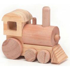 "Train Wood Toy Kit 4-1/2""X1-3/4"" 1/Pkg 9178-07"