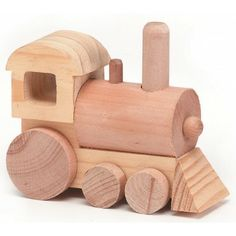 "Train Wood Toy Kit 4-1/2""X1-3/4"" 1/Pkg 9178-07"