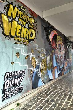 Vitry-sur-Seine - place Jean Martin - street art - nichos