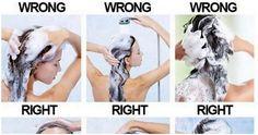 Voici Les 7 Étapes Pour Se Laver Les Cheveux Correctement! Comme Dans Les Salons…