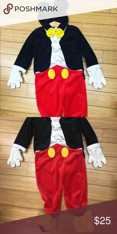 Mickey Mouse costume Good condition. Disney Costumes Halloween