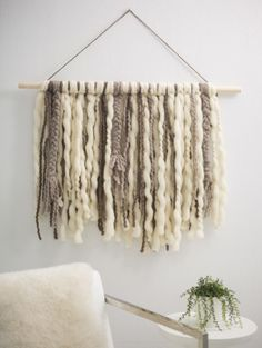 Braided Fringe Wall Hanging (ugly colors but what if they were pretty?!)