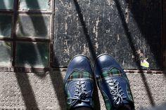 Edinburgh by bluelij, via Flickr | #feetfriday #feet #shoes #fromwhereistand # blue #green #grey