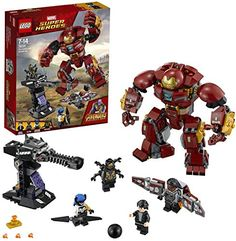 LEGO 76104 Marvel Super Heroes The Hulkbuster Smash-Up Bruce Banner, Falcon, Proxima Midnight and Outrider Minifigures Building Set, Avengers Infinity War Toys for Kids Lego Marvel's Avengers, Lego Marvel Super Heroes, Lego Spiderman, Bruce Banner, Scarlet Spider, Hulk, Marvel Legends, Legos, Lego City Police Station